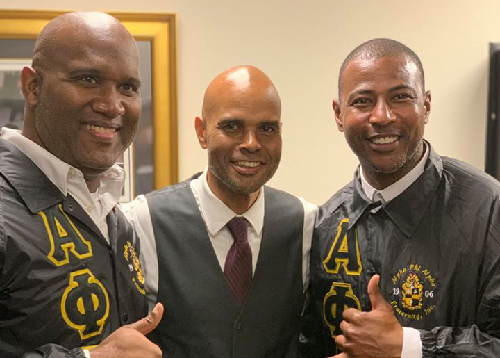 (L-R) Brothers Jay Stallworth, Jason Lewis (Dean of Intake), and Sedwitz Domont